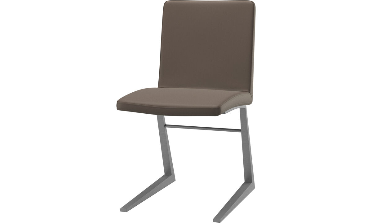 Dining chairs - Mariposa Deluxe chair - Gray - Leather