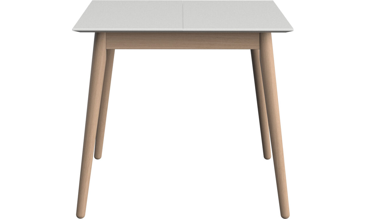 Dining tables - Milano table with supplementary tabletop - square - White - Lacquered