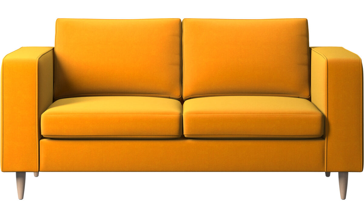 2 seater sofas - Indivi sofa - Orange - Fabric