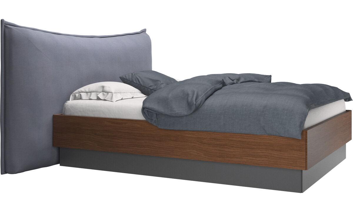 Nuevas camas - Cama con canapé, estructura elevable y tablado, no incluye colchón Gent - En azul - Tela