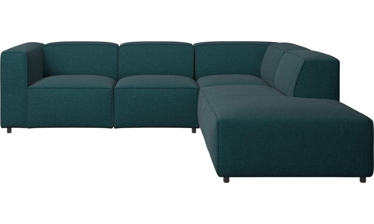 Chaise lounge sofas - Carmo motion corner sofa - Blue - Fabric