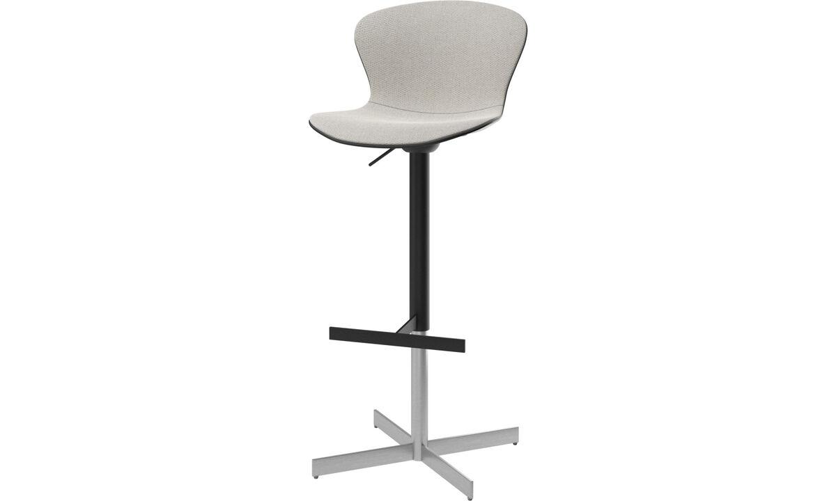 Bar stools - Adelaide barstool with gas cartridge - Grey - Fabric