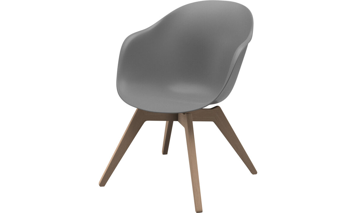 Armchairs - Adelaide lounge chair - Grey - Plastic