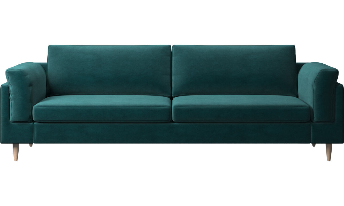 3 seater sofas - Indivi 2 sofa - Blue - Fabric