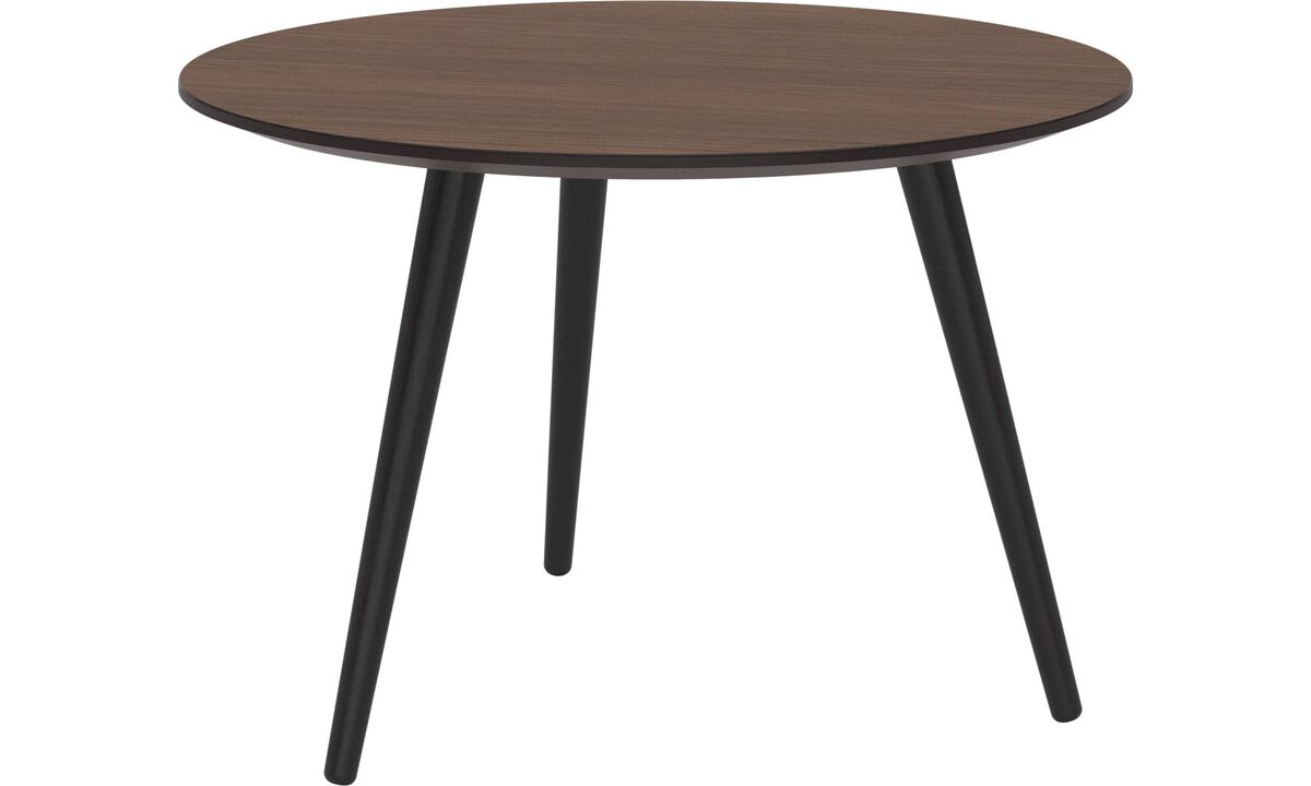 Coffee tables - Bornholm coffee table - round - Brown - Walnutlacquered