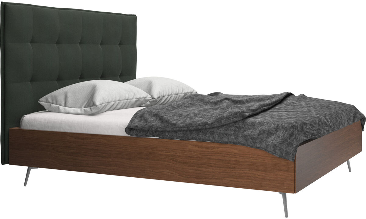 Beds - Lugano bed, excl. slats and mattress - Green - Fabric