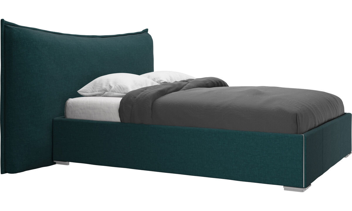 Sängar - Gent säng, exkl. madrass - Blå - Tyg