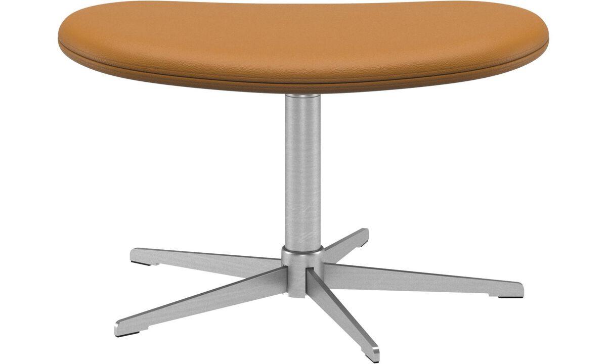 Footstools - Ogi footstool - Brown - Leather