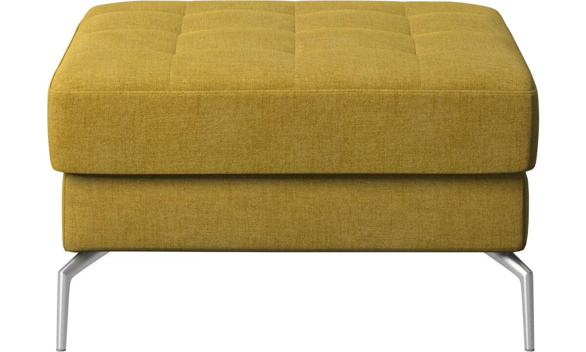 Footstools - Osaka footstool, tufted seat - Yellow - Fabric