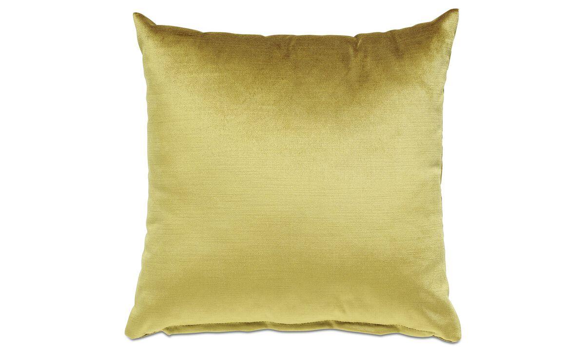 Velvet cushions - Velvet cushion - Yellow - Fabric