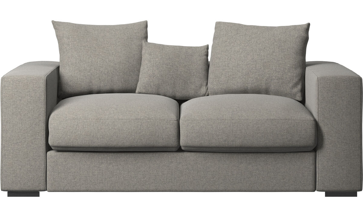 2 seater sofas - Cenova sofa - Black - Fabric