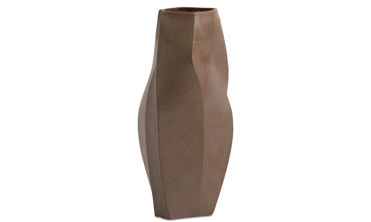 Vases - Contour vase - Brown - Ceramic