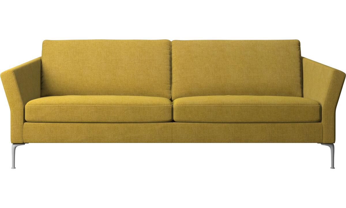 Sofás de 3 plazas - sofá Marseille - En amarillo - Tela