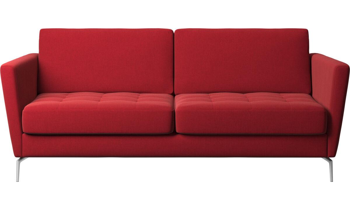 Sofa beds - Osaka sofa bed, tufted seat - Red - Fabric