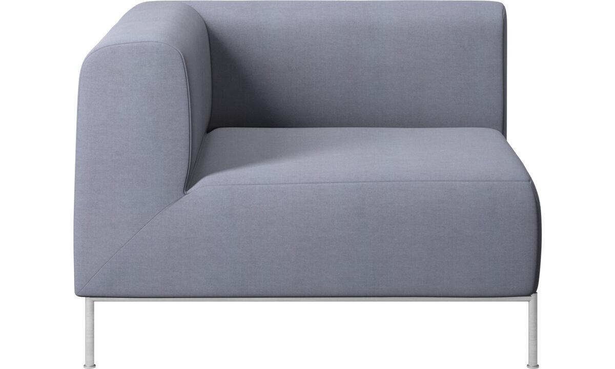 Modular sofas - Miami corner unit left side - Blue - Fabric
