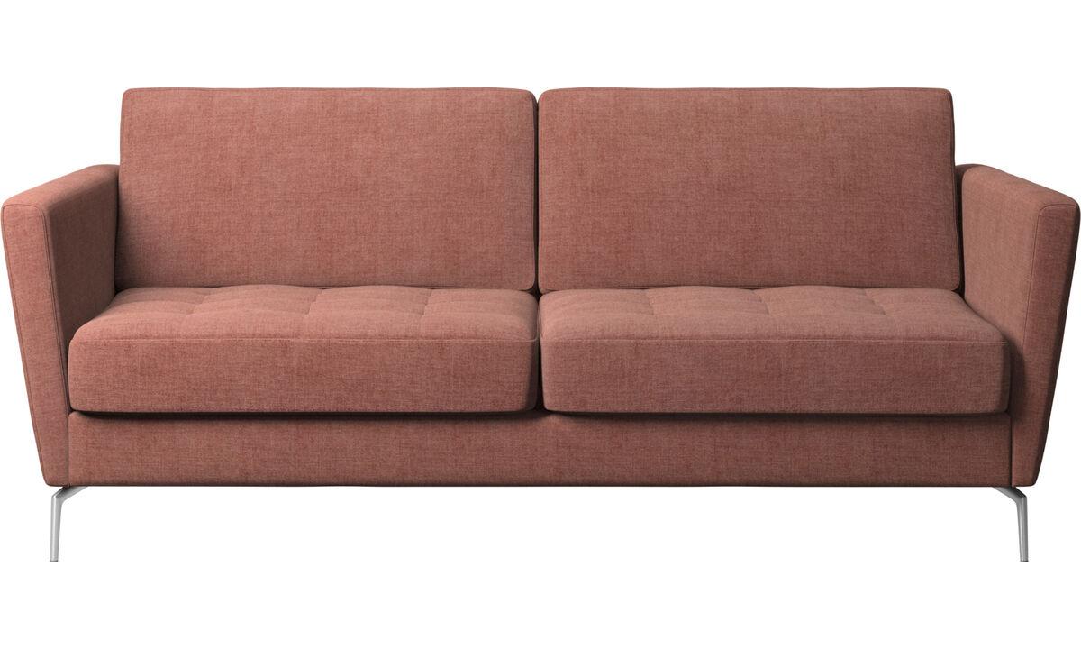 Sofás cama - Sofá-cama Osaka, assento tufado - Vermelho - Tecido