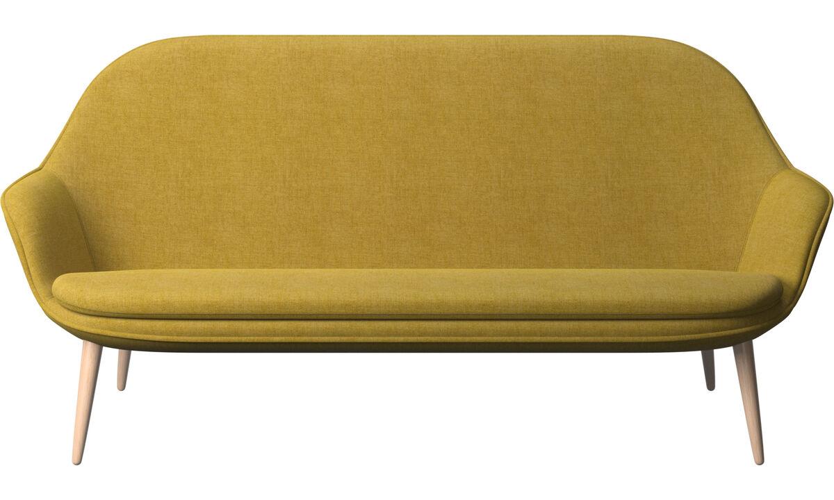 Sofás de 2 plazas y media - sofá Adelaide - En amarillo - Tela