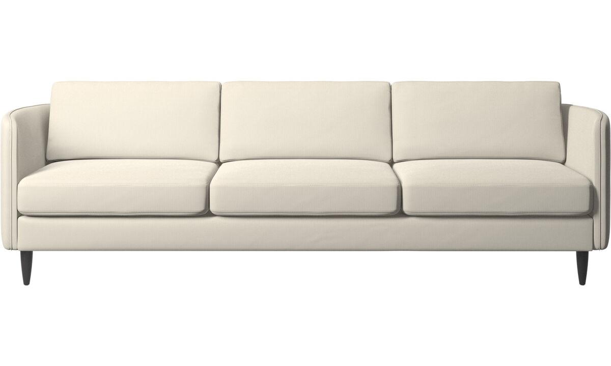 Canapés 3 places - canapé Osaka, assise classique - Blanc - Tissu