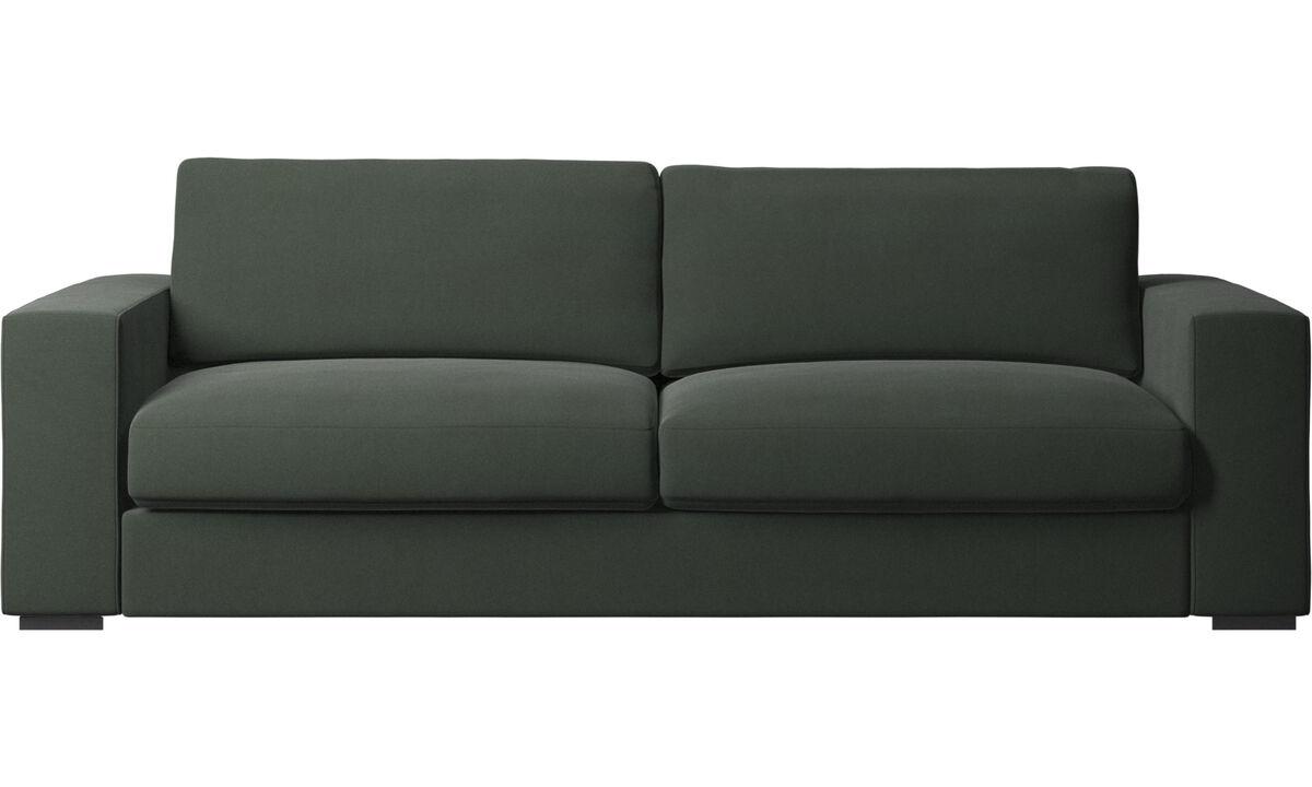 Sofás de 3 lugares - Sofá Cenova - Verde - Tecido