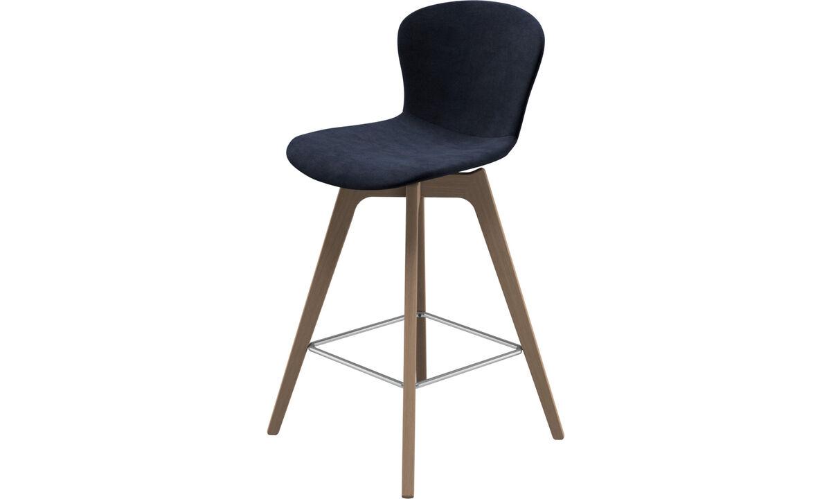 Tabourets de bar - chaise de bar Adelaide - Bleu - Tissu