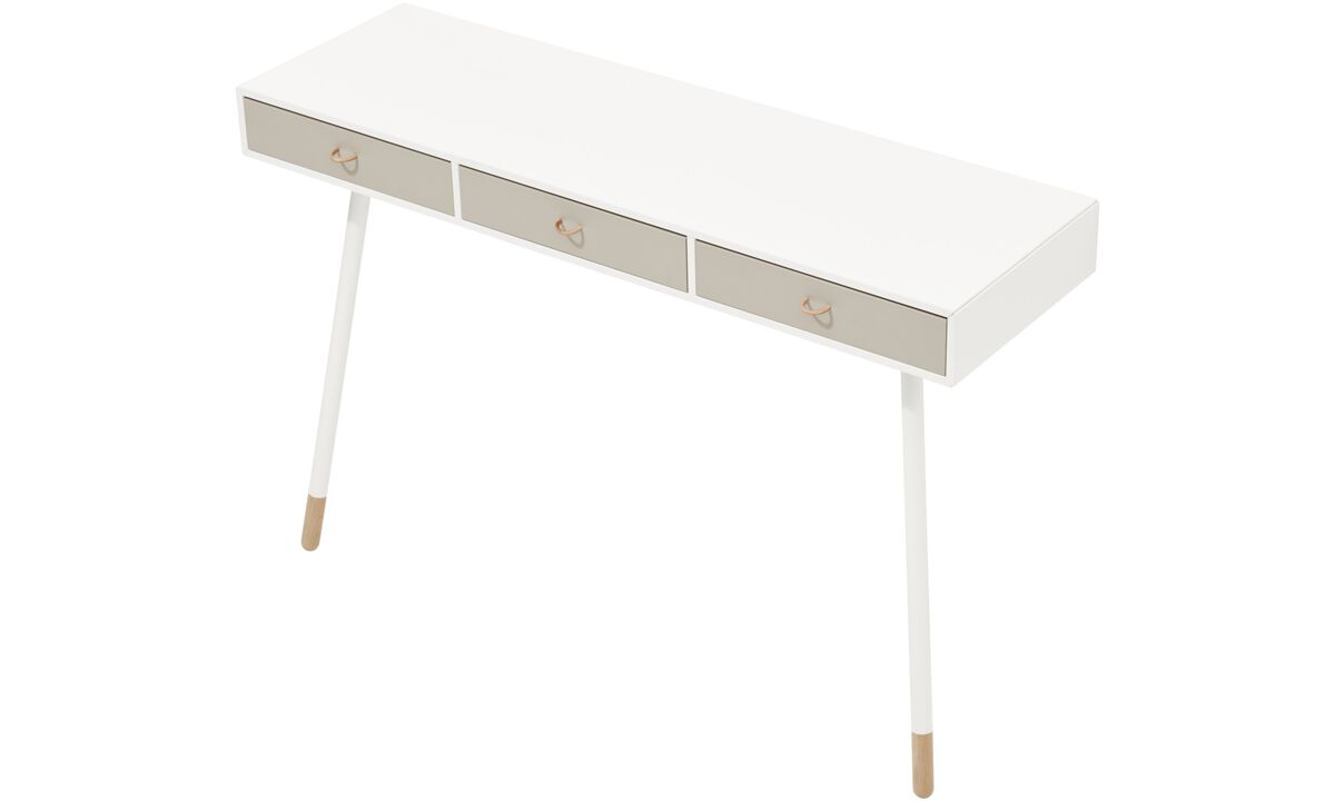 Console tables - Cupertino console table - rectangular - White - Lacquered