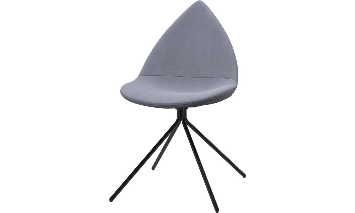 Обеденные стулья - cтул Ottawa - Синего цвета - Tкань