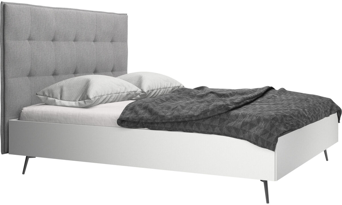 Beds - Lugano bed, excl. mattress - Grey - Fabric
