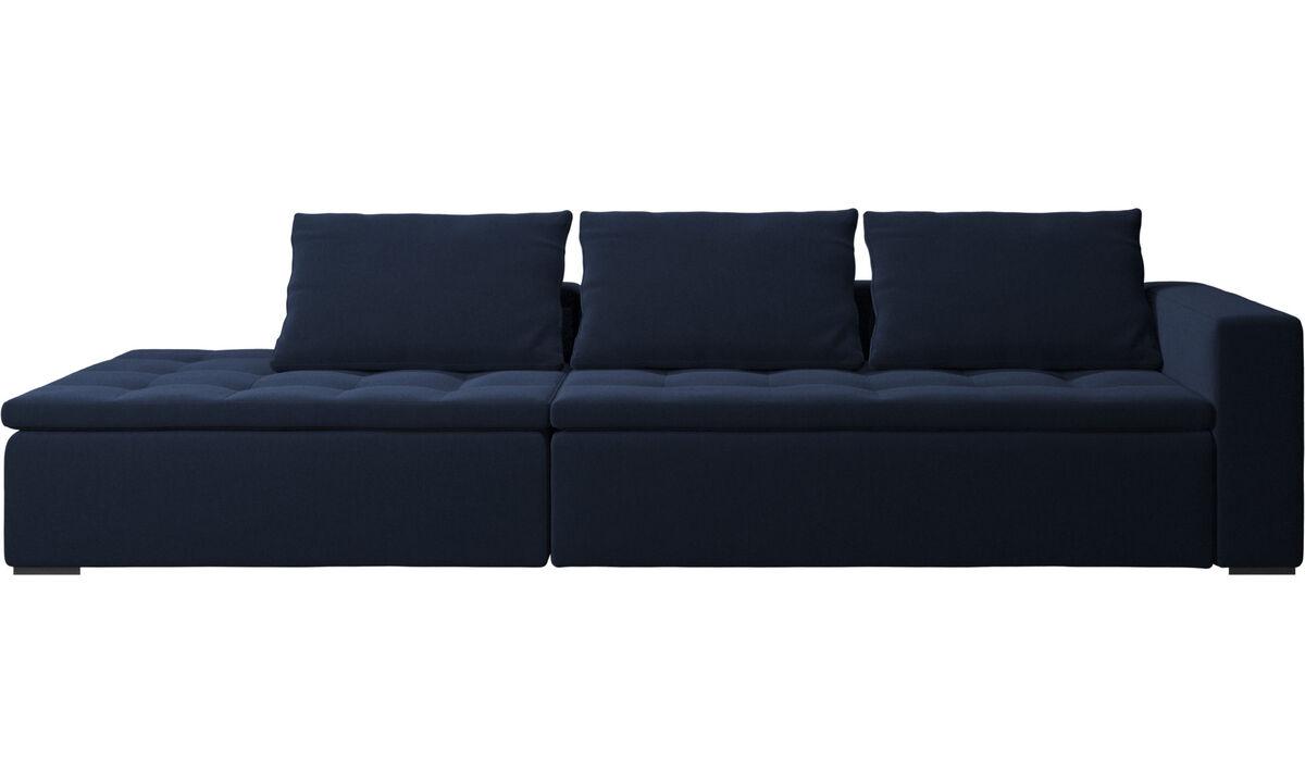 Sofas with open end - Mezzo divano con lounge - Blu - Tessuto