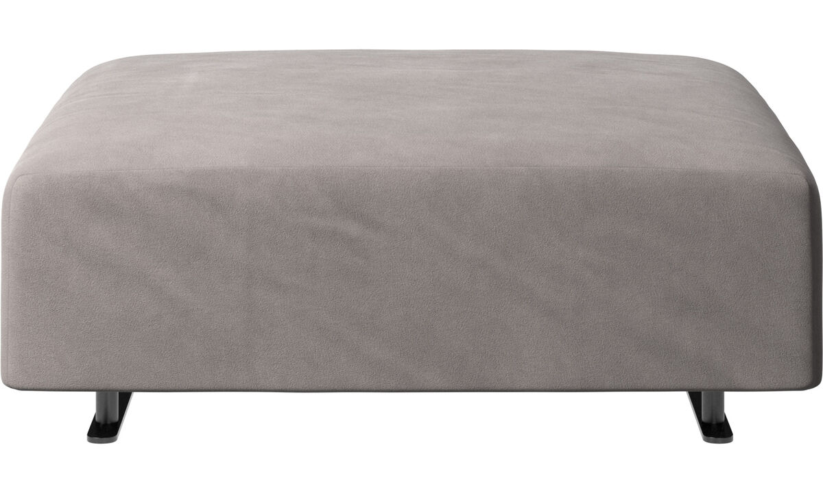 Footstools - Hampton footstool - Grey - Fabric