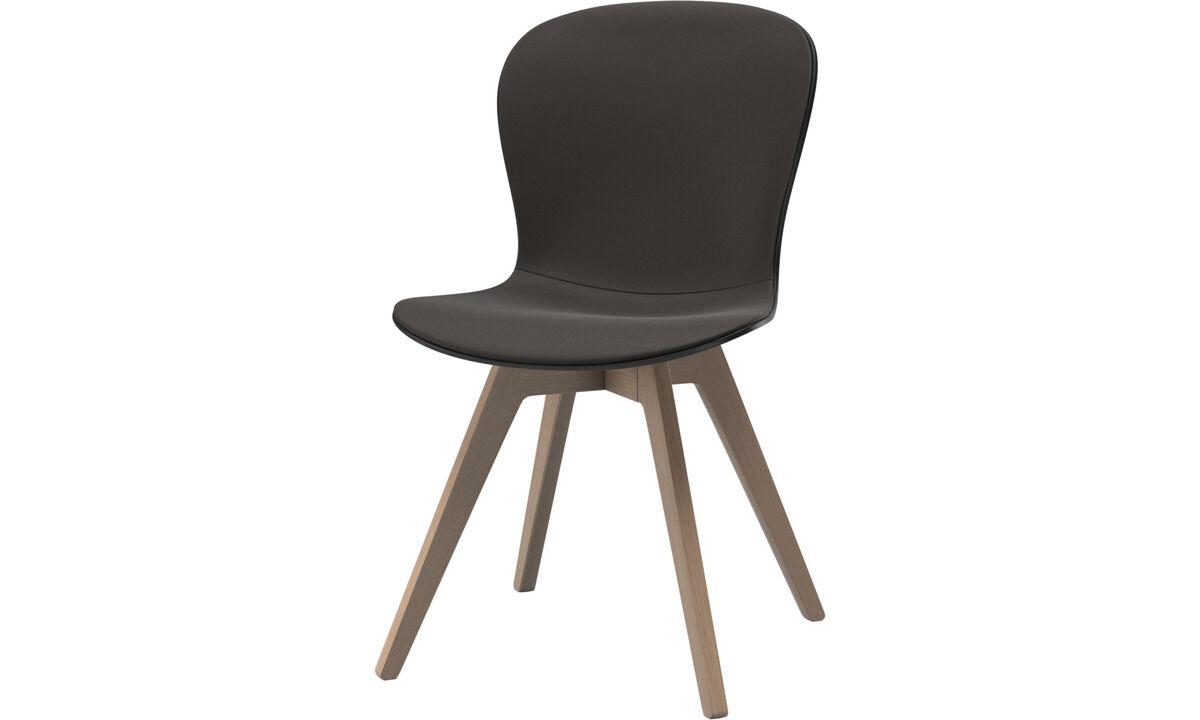 Sillas de comedor - silla Adelaide - En marrón - Piel