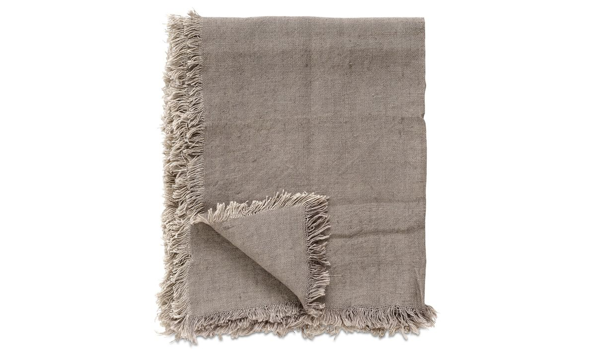 Throws & bedspreads - Linen throw - Brown - Fabric