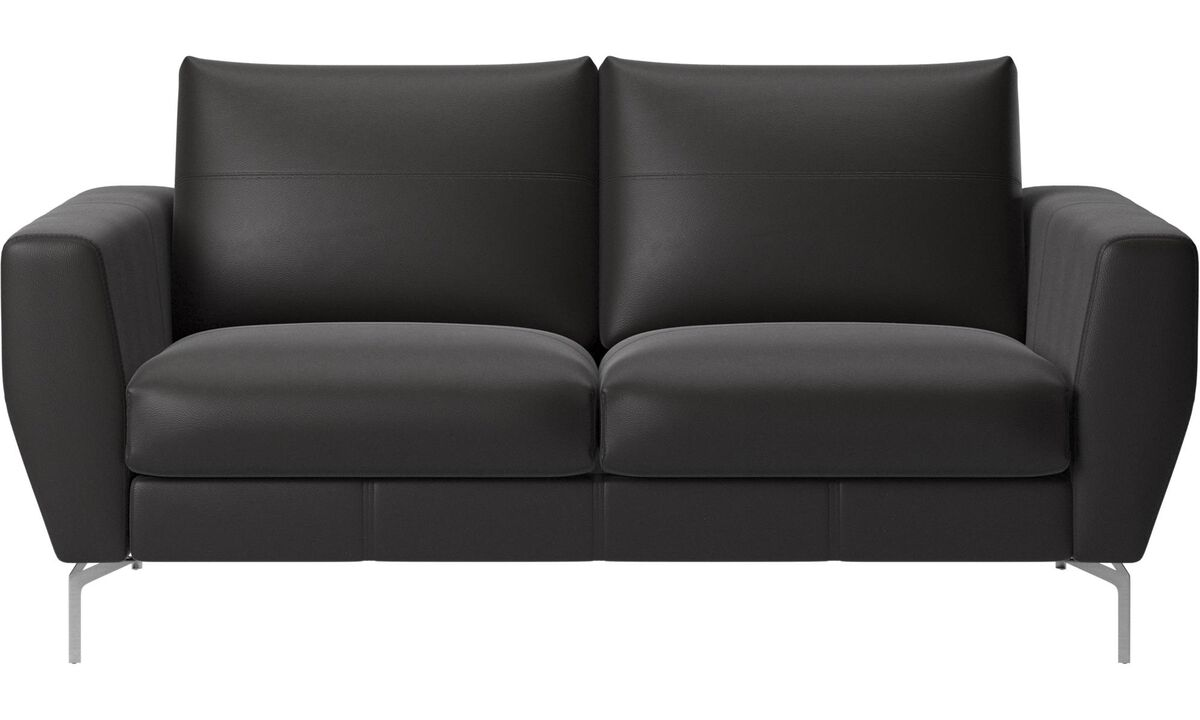 2 seater sofas - Nice sofa - Black - Leather