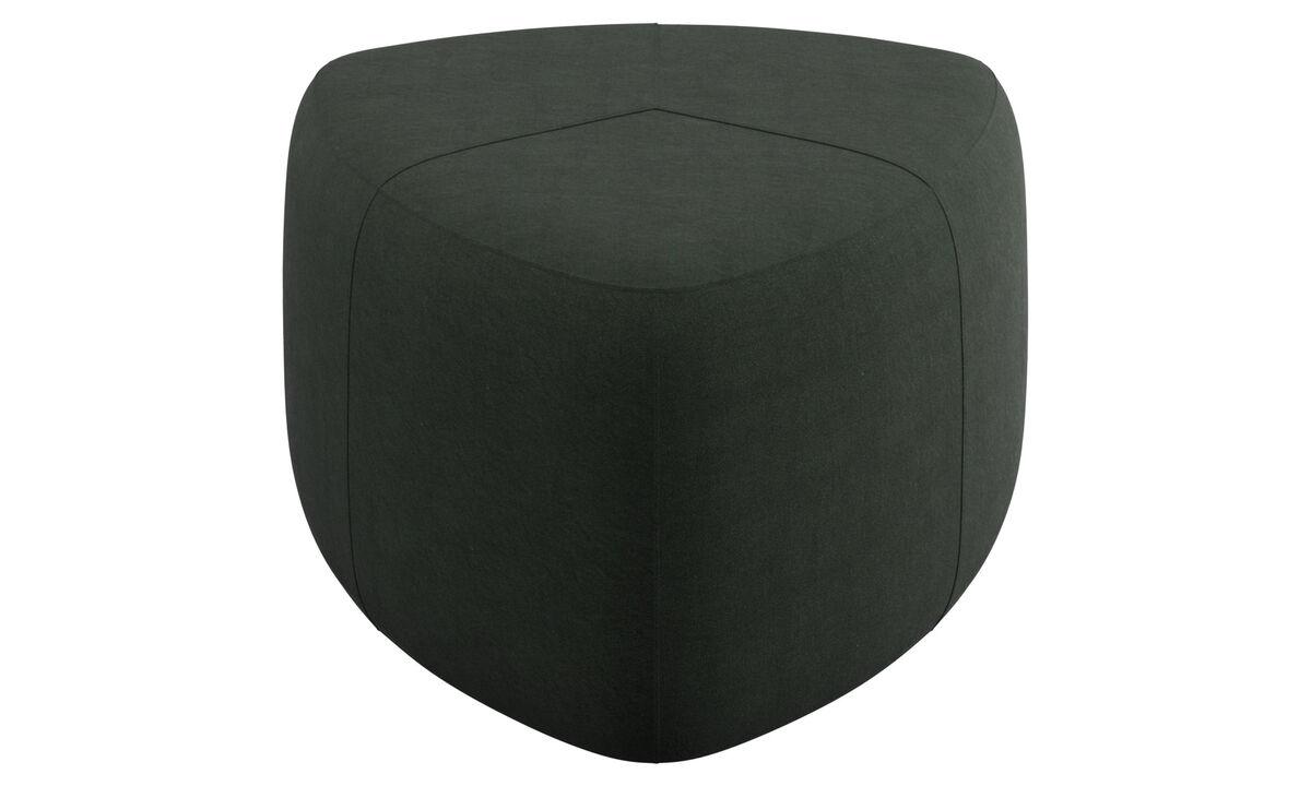 Footstools - Bermuda footstool - Green - Fabric