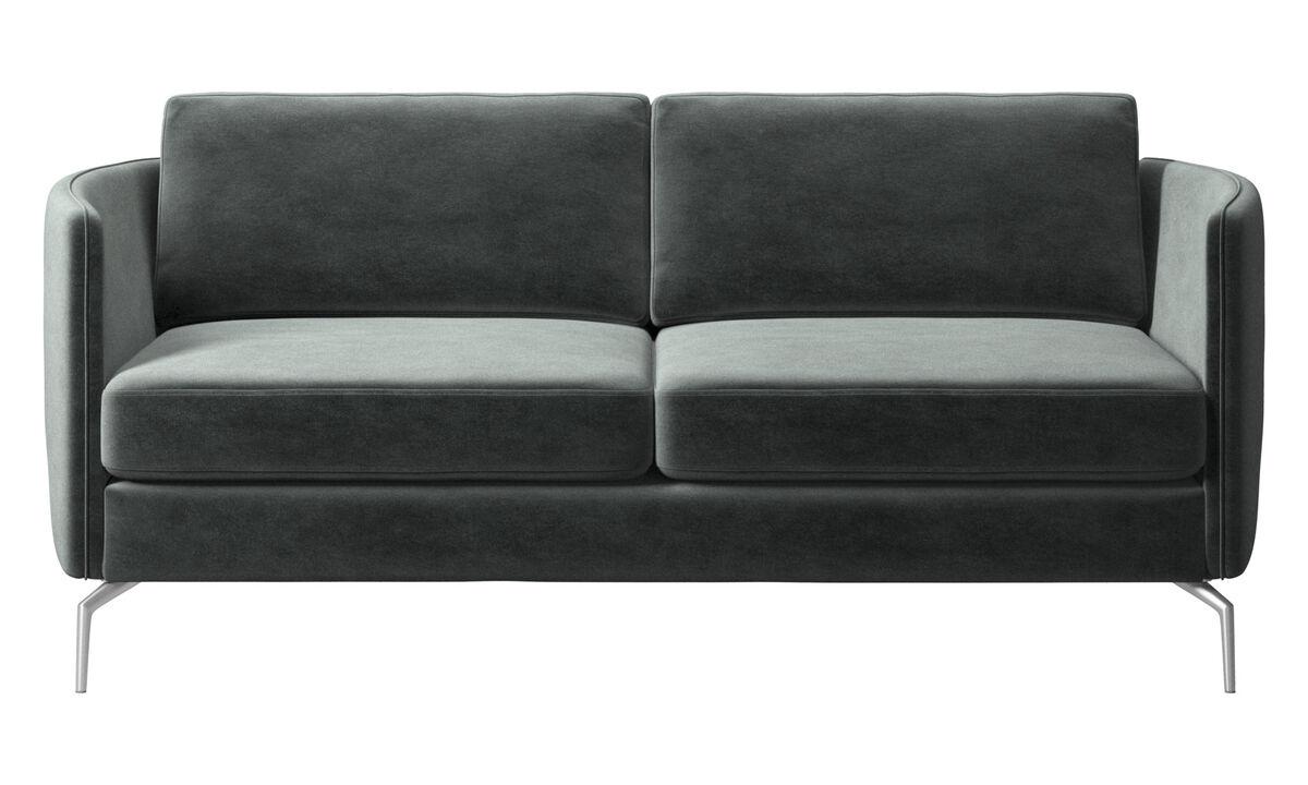 2 seater sofas - Osaka sofa, regular seat - Green - Fabric