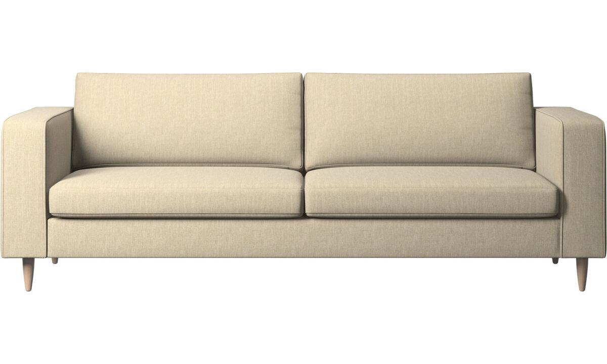 3 seater sofas - Indivi 2 sofa - Brown - Fabric