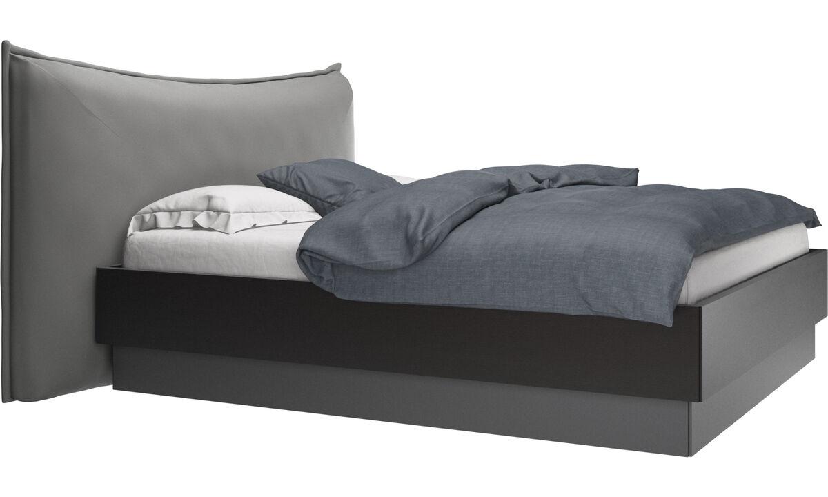 Nuevas camas - Cama con canapé, estructura elevable y tablado, no incluye colchón Gent - En gris - Piel