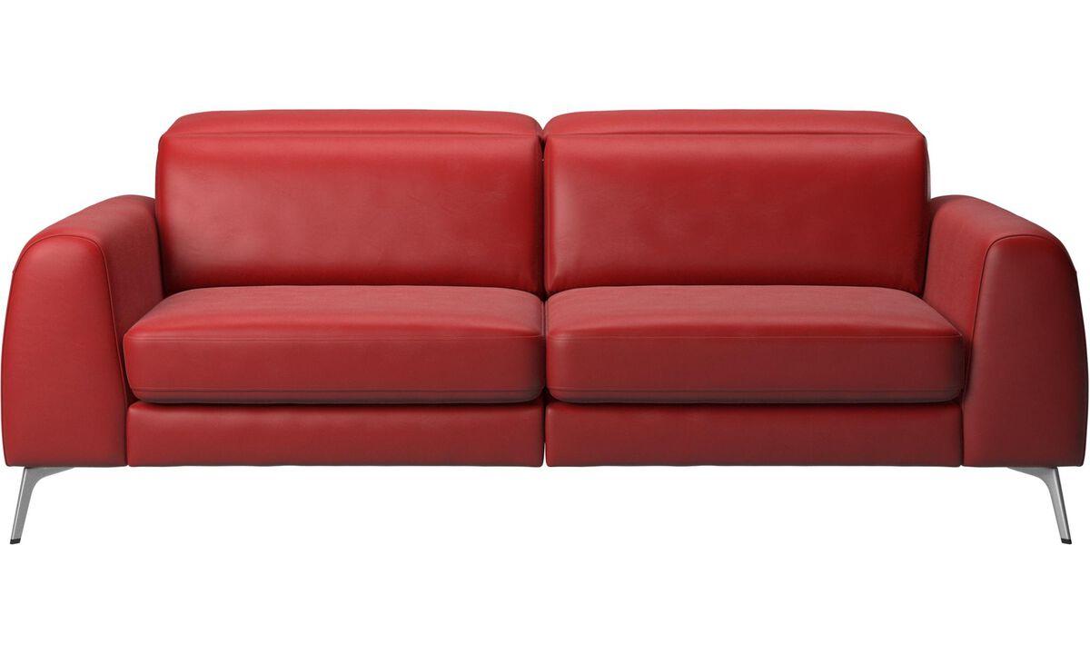 Canapés convertibles - canapé-lit Madison avec appuie-tête réglables - Rouge - Cuir