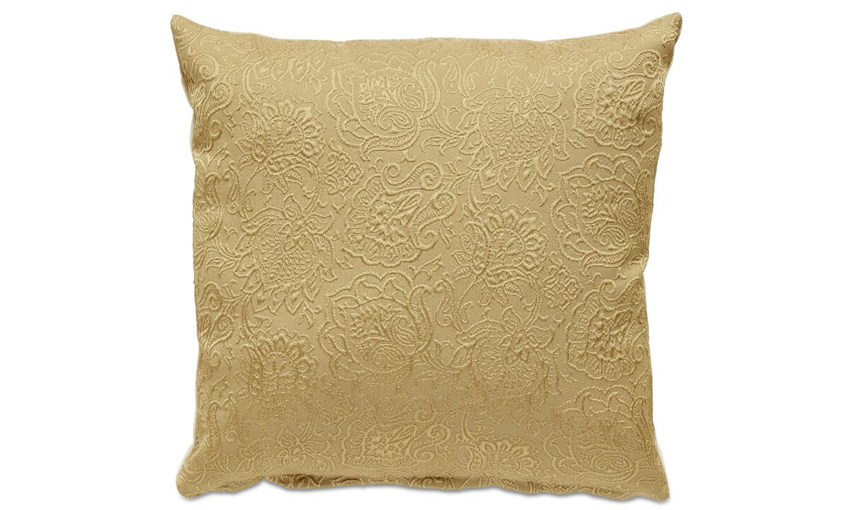 Patterned cushions - Baroque cushion - Yellow - Fabric