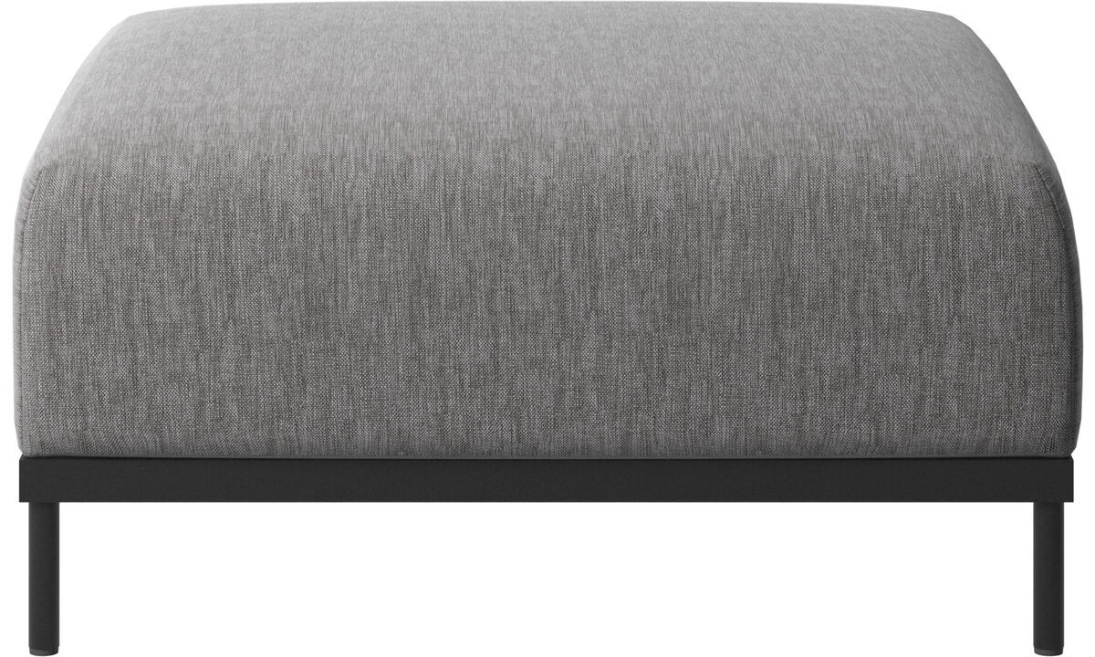 Footstools - Atlanta pouf - Grey - Fabric