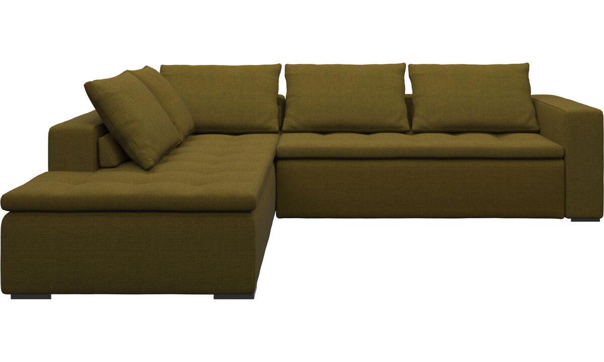 Sofas with open end - Mezzo divano ad angolo con modulo relax - Giallo - Tessuto