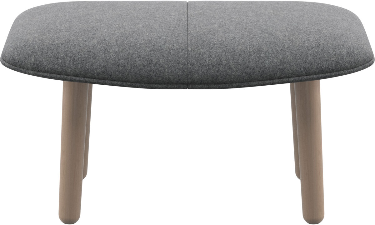 Ottomans - fusion footstool - Grey - Fabric