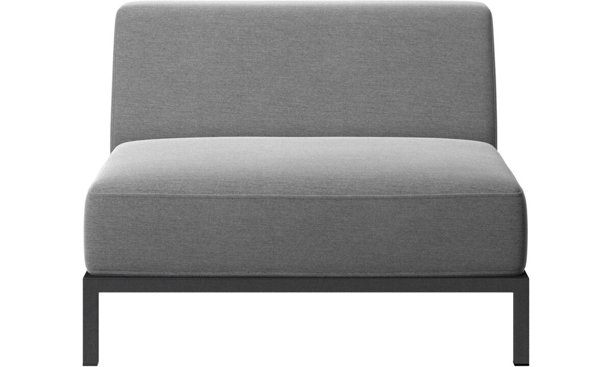 Outdoor-Sofas - Rome Outdoor-Sofa - Grau - Stoff
