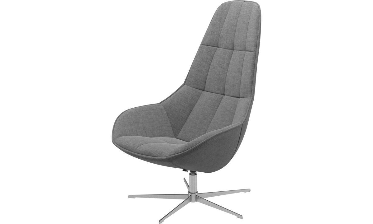 Fauteuils - fauteuil Boston avec fonction pivotante. Existe aussi avec fonction inclinable - Gris - Tissu