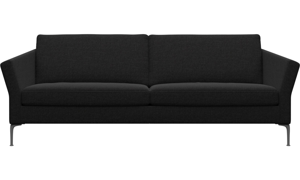 Sofás de 3 plazas - sofá Marseille - En negro - Tela