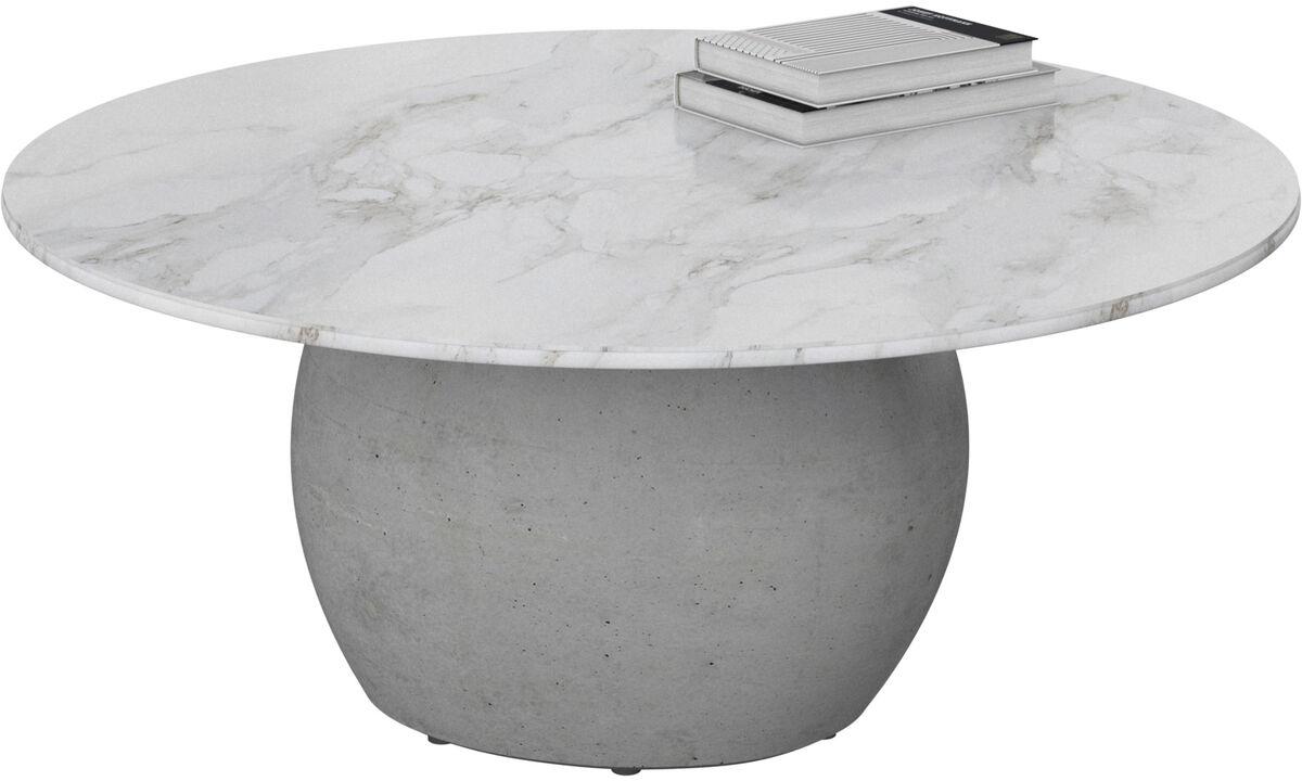 Coffee tables - Bilbao coffee table - round - White - Ceramic