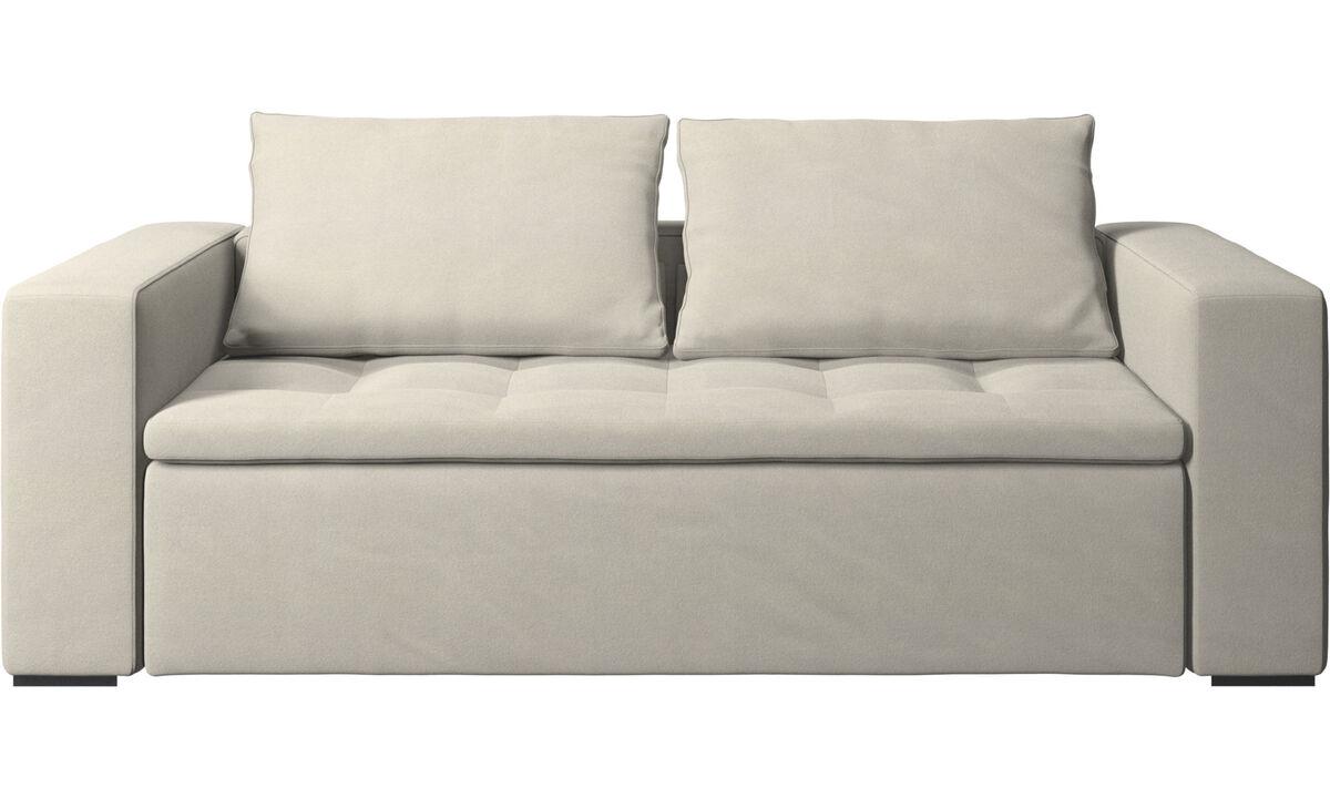 Sofás de 2 plazas y media - sofá Mezzo - Blanco - Tela