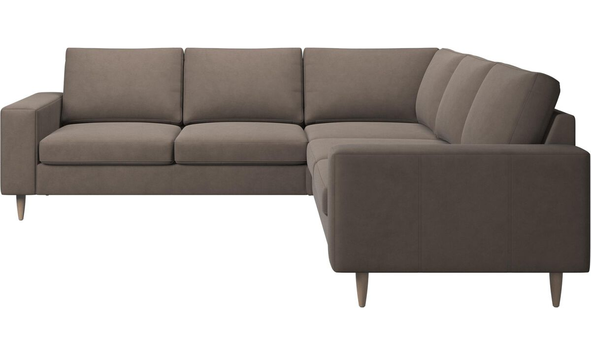 Corner sofas - Indivi 2 corner sofa - Gray - Leather