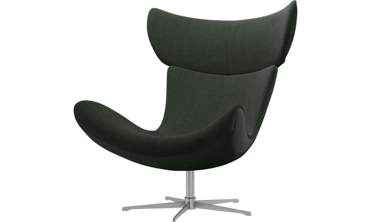 Fauteuils - fauteuil Imola avec fonction pivotante - Vert - Tissu
