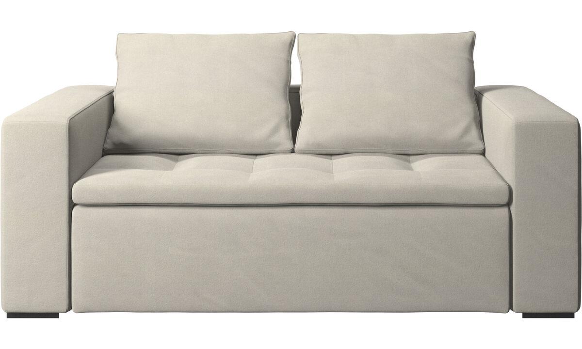 Sofás de 2 plazas - sofá Mezzo - Blanco - Tela