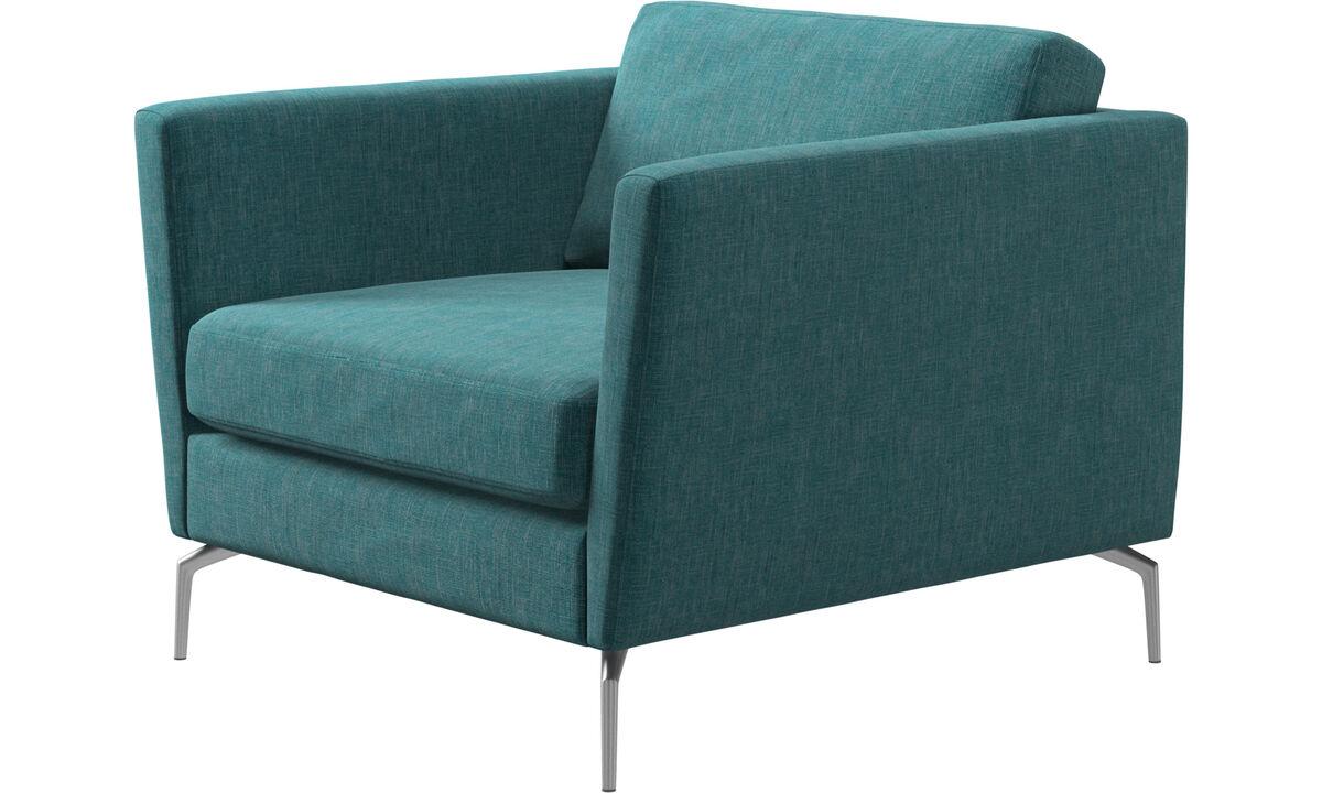 Fauteuils - Osaka fauteuil, standaard zitting - Blauw - Stof